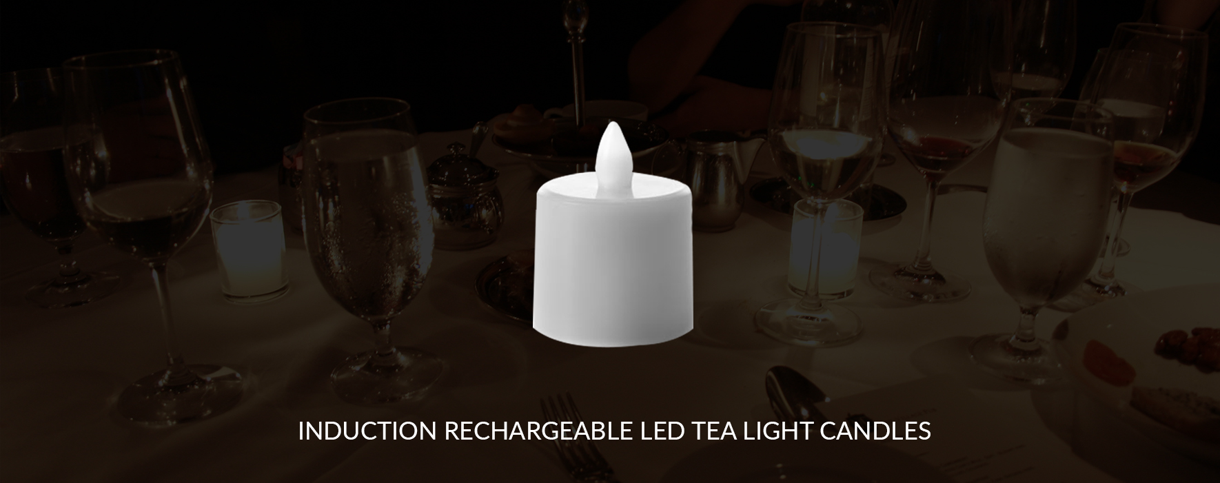 Induction Rechargeable LED Tea Light Candles